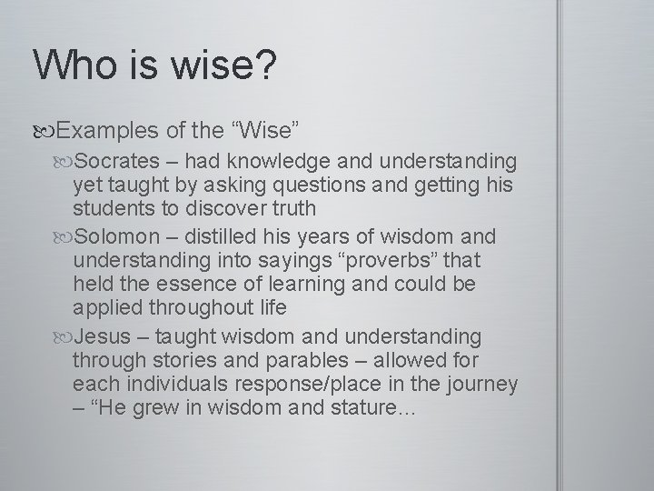 Wisdom examples solomons Solomon's Wisdom