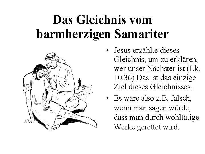 Für kinder samariter gleichnis vom barmherzigen Nächstenliebe am