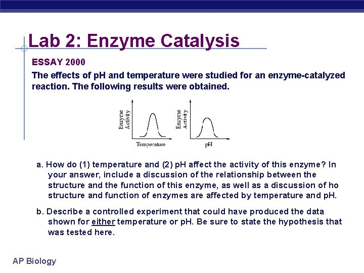 Ap biology essay enzymes are biological catalysts samples of a good cover letter for job application