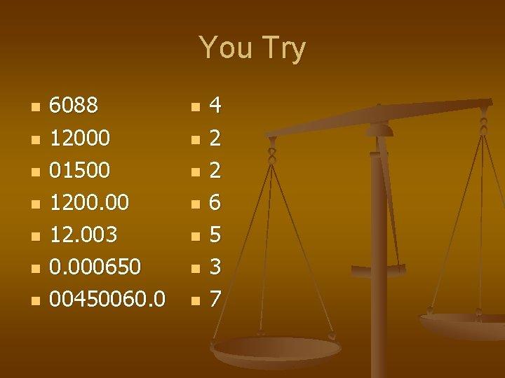 You Try n n n n 6088 12000 01500 1200. 00 12. 003 0.