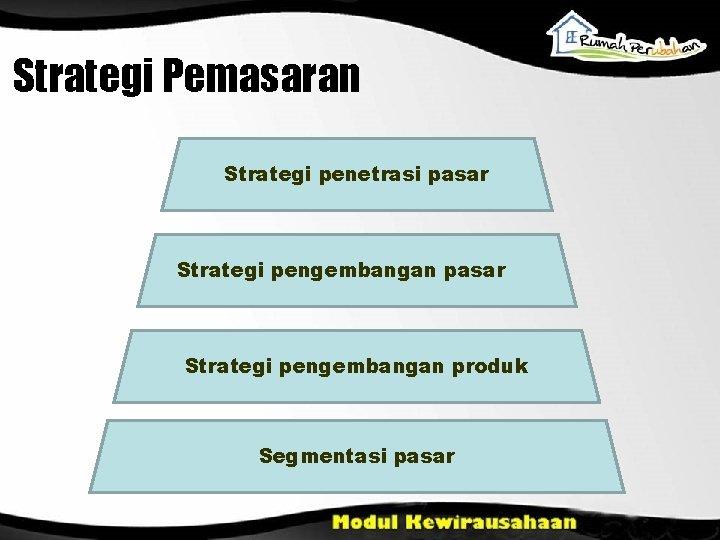 Strategi Pemasaran Strategi penetrasi pasar Strategi pengembangan produk Segmentasi pasar