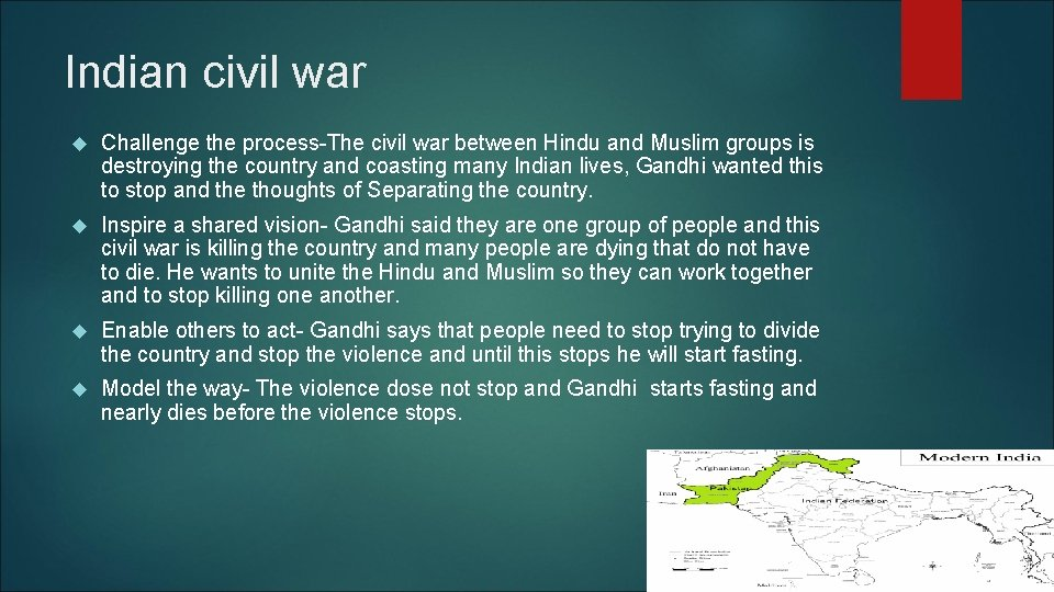 Indian civil war Challenge the process-The civil war between Hindu and Muslim groups is