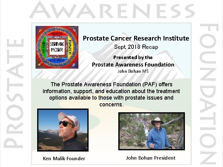 prostate cancer research and education foundation