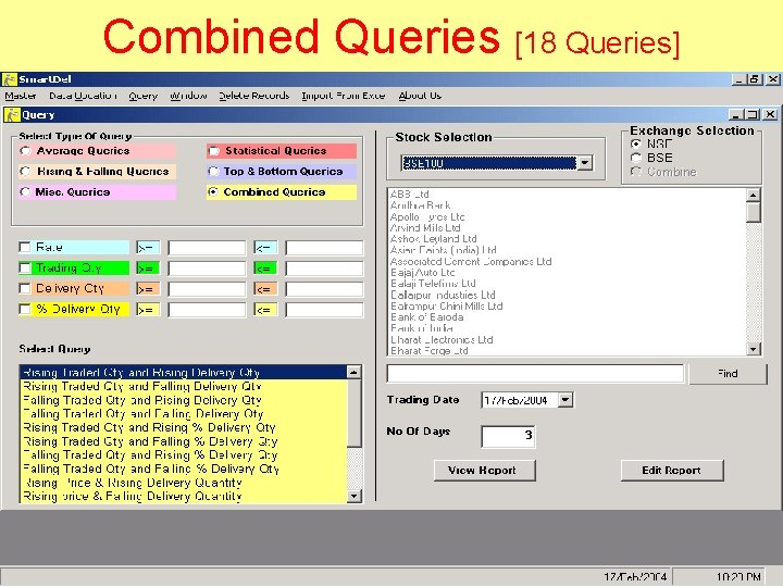 Combined Queries [18 Queries]
