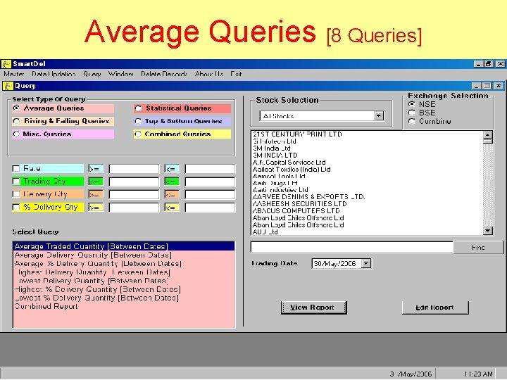Average Queries [8 Queries]