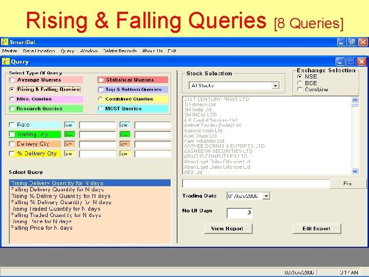 Rising & Falling Queries [8 Queries]