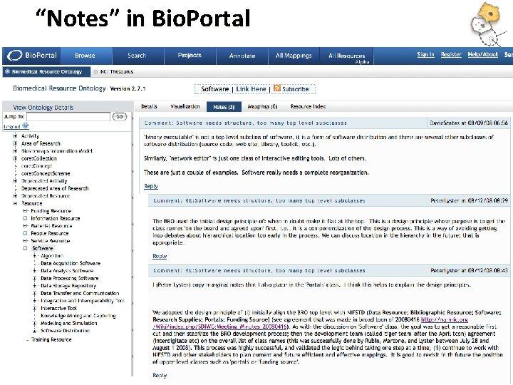 """""""Notes"""" in Bio. Portal"""