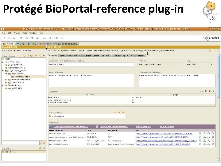 Protégé Bio. Portal-reference plug-in