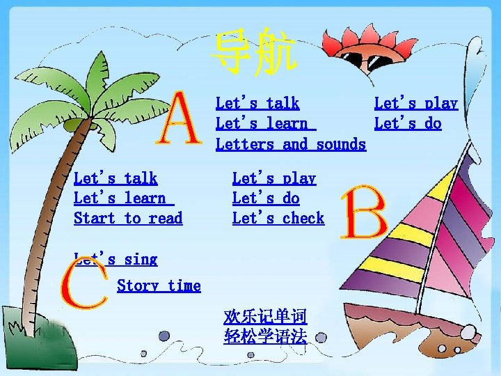 Let's talk Let's play Let's learn Let's do Letters and sounds Let's talk Let's