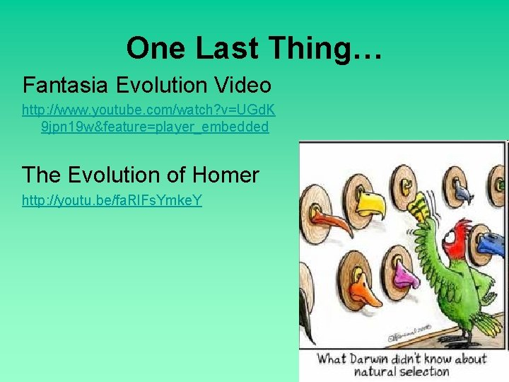 One Last Thing… Fantasia Evolution Video http: //www. youtube. com/watch? v=UGd. K 9 jpn