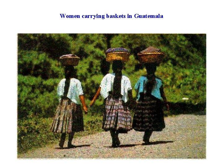 Women carrying baskets in Guatemala
