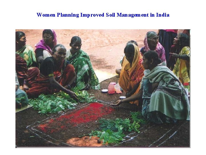 Women Planning Improved Soil Management in India