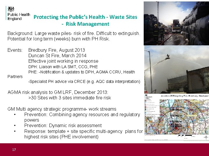 Protecting the Public's Health - Waste Sites - Risk Management Background: Large waste piles-