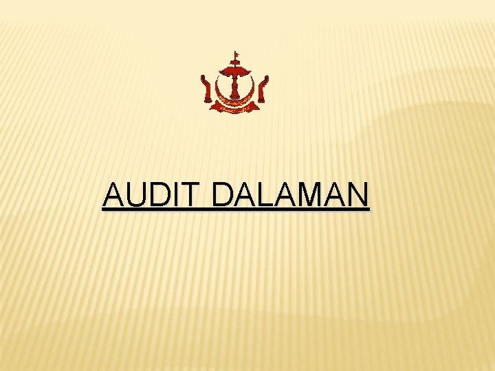 AUDIT DALAMAN