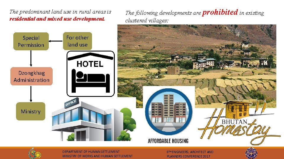 The predominant land use in rural areas is residential and mixed use development. Special