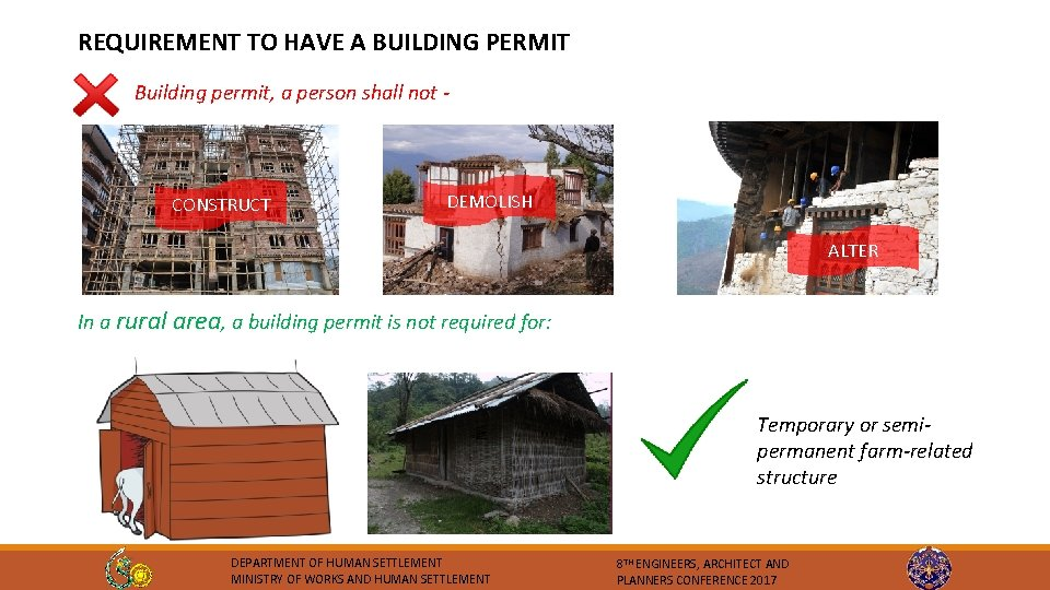 REQUIREMENT TO HAVE A BUILDING PERMIT Building permit, a person shall not - CONSTRUCT