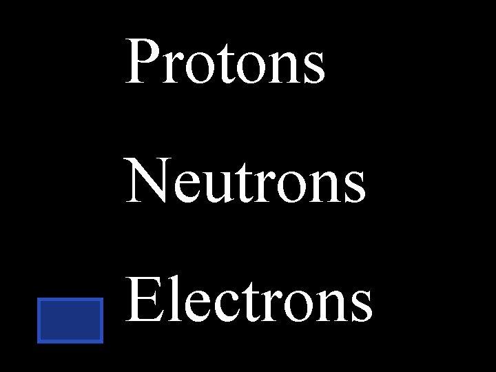 Protons Neutrons Electrons