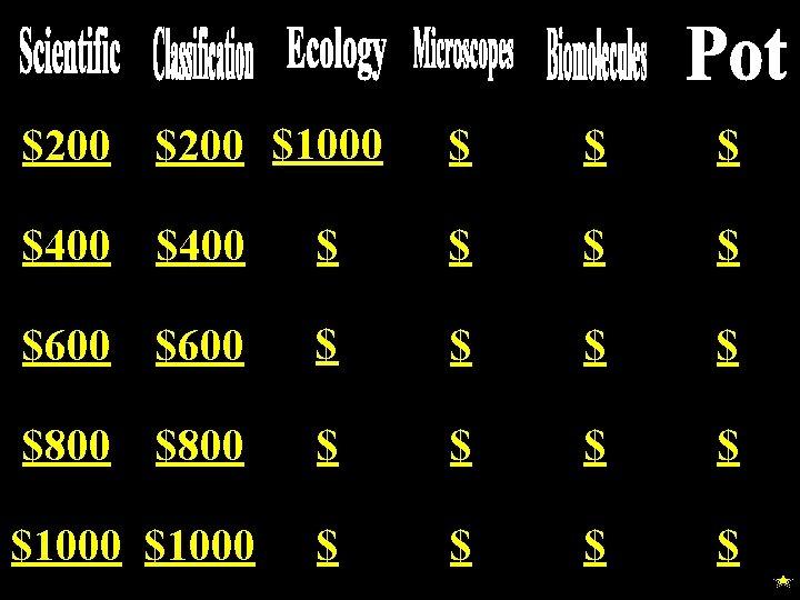 $200 $1000 $ $400 $ $ $600 $ $ $800 $ $ $1000 $