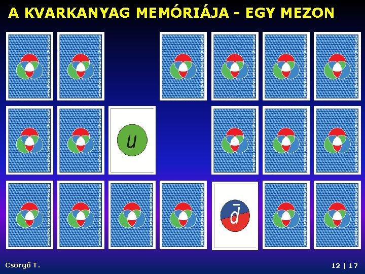 A KVARKANYAG MEMÓRIÁJA - EGY MEZON Csörgő T. 12   17