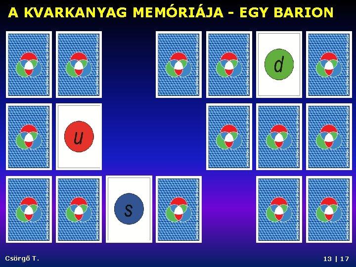 A KVARKANYAG MEMÓRIÁJA - EGY BARION Csörgő T. 13   17
