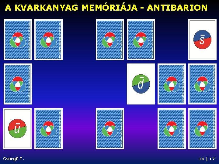 A KVARKANYAG MEMÓRIÁJA - ANTIBARION Csörgő T. 14   17
