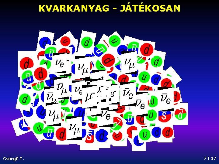 KVARKANYAG - JÁTÉKOSAN Csörgő T. 7   17