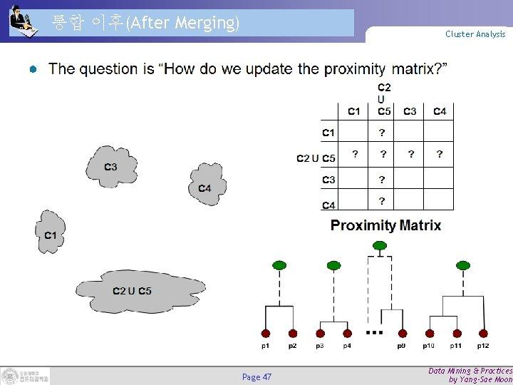 통합 이후(After Merging) Cluster Analysis Page 47 Data Mining & Practices by Yang-Sae Moon