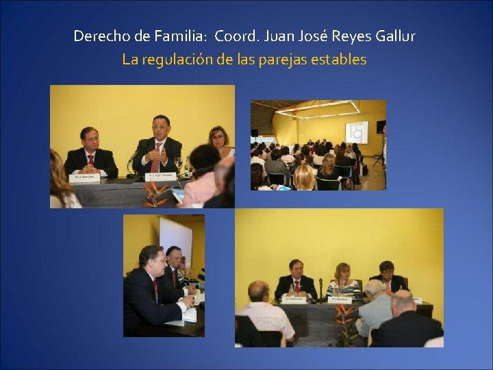 Derecho de Familia: Coord. Juan José Reyes Gallur La regulación de las parejas estables