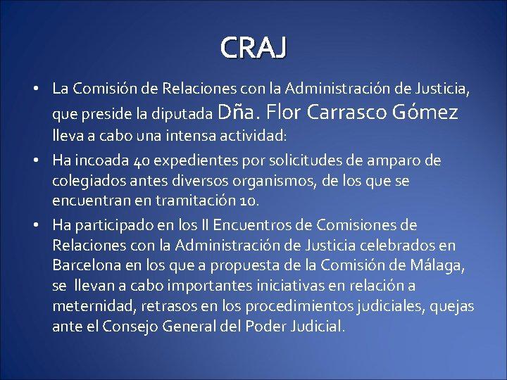 CRAJ • La Comisión de Relaciones con la Administración de Justicia, que preside la