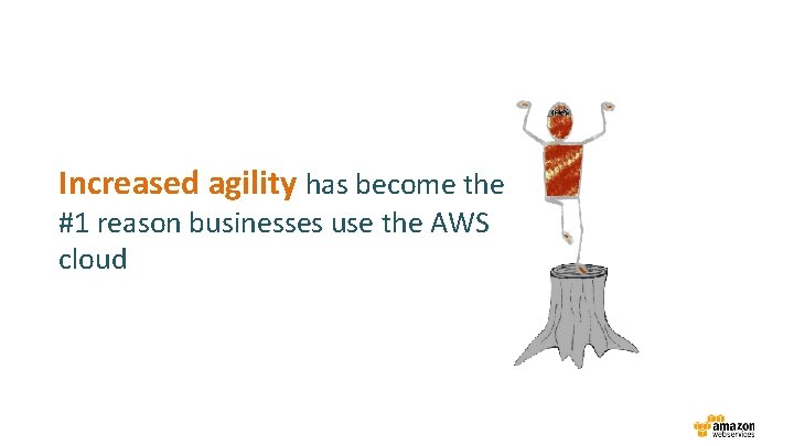 Increased agility has become the #1 reason businesses use the AWS cloud