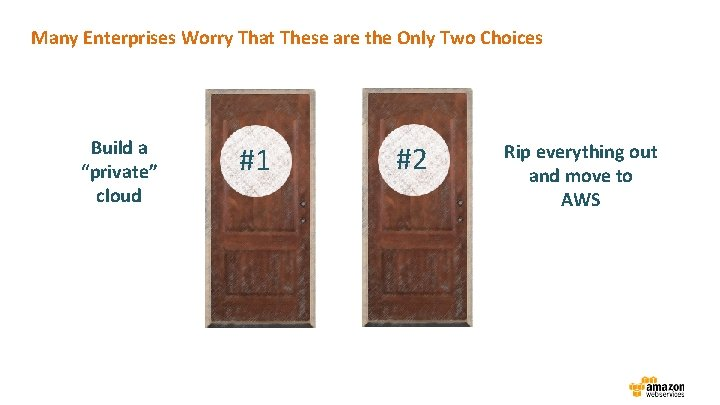 """Many Enterprises Worry That These are the Only Two Choices Build a """"private"""" cloud"""