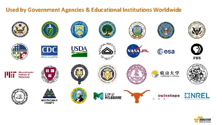 Used by Government Agencies & Educational Institutions Worldwide