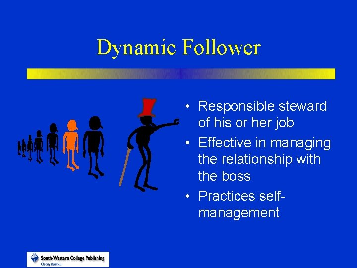 Dynamic Follower • Responsible steward of his or her job • Effective in managing