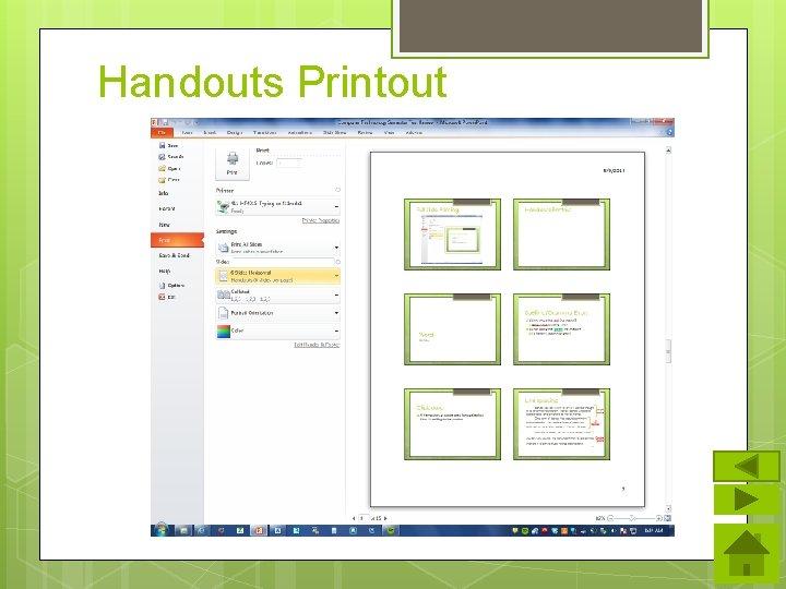 Handouts Printout
