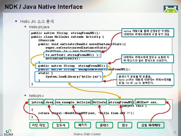 NDK / Java Native Interface § Hello Jni 소스 분석 § Hello-jni. java native