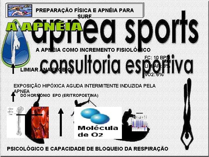 PREPARAÇÃO FÍSICA E APNÉIA PARA SURF A APNÉIA COMO INCREMENTO FISIOLÓGICO FC: 10 BPM