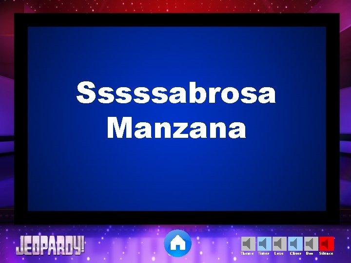 Sssssabrosa Manzana Theme Timer Lose Cheer Boo Silence
