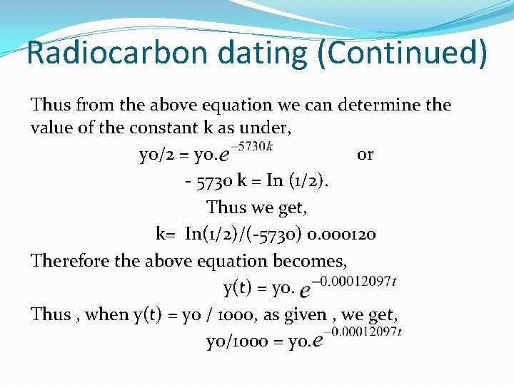 dating equation