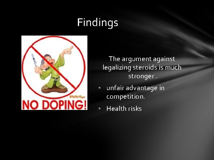 arguments for the legalization of steroids
