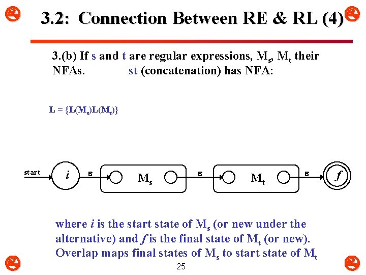 3. 2: Connection Between RE & RL (4) 3. (b) If s and