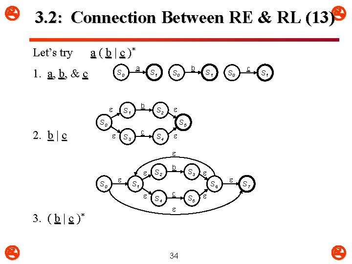 3. 2: Connection Between RE & RL (13) Let's try a ( b