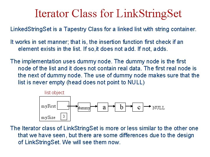 Iterator Class for Link. String. Set Linked. String. Set is a Tapestry Class for