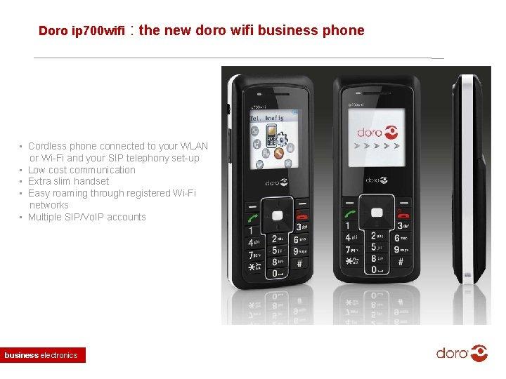 Doro ip 700 wifi : the new doro wifi business phone • Cordless phone