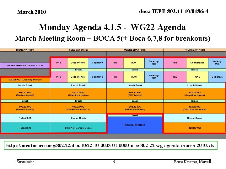 doc. : IEEE 802. 11 -10/0186 r 4 March 2010 Monday Agenda 4. 1.