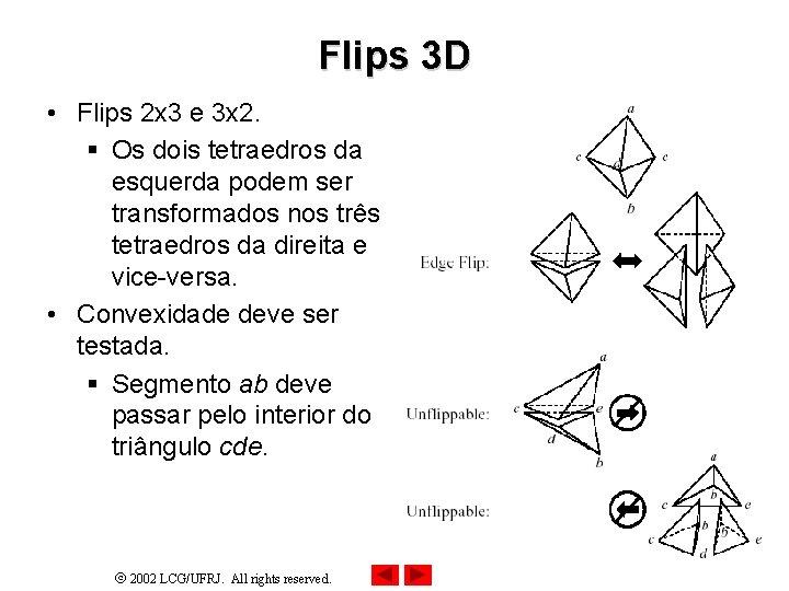 Flips 3 D • Flips 2 x 3 e 3 x 2. § Os