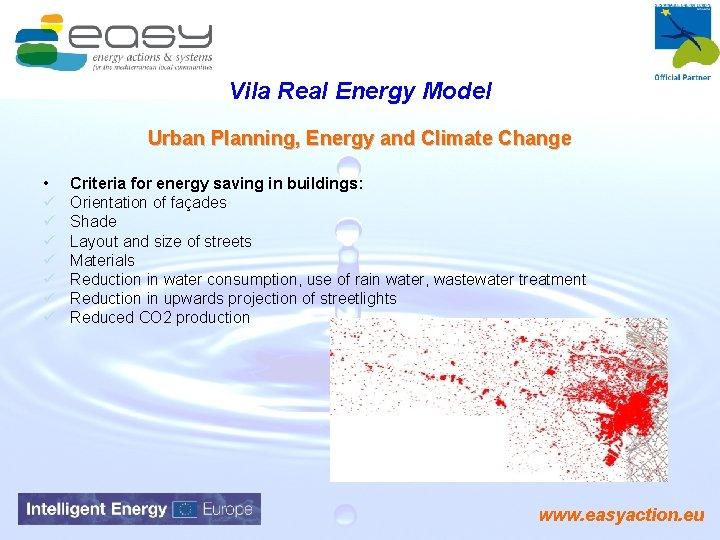 Vila Real Energy Model Urban Planning, Energy and Climate Change • ü ü ü