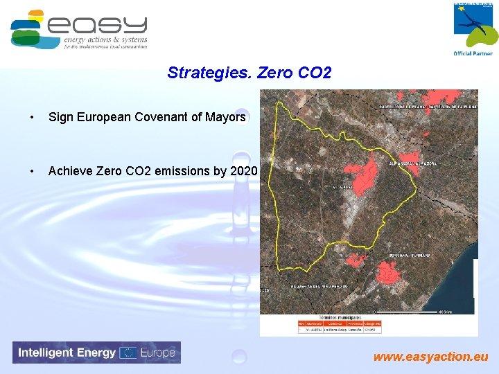 Strategies. Zero CO 2 • Sign European Covenant of Mayors • Achieve Zero CO