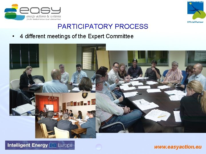 PARTICIPATORY PROCESS • 4 different meetings of the Expert Committee www. easyaction. eu