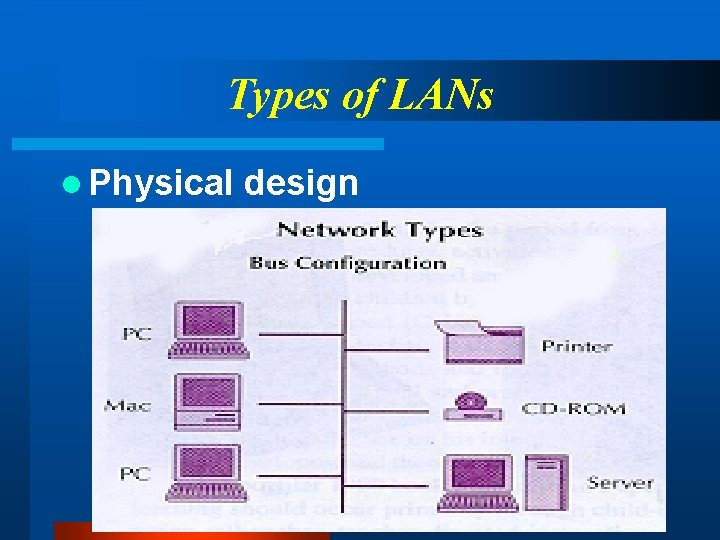 Types of LANs l Physical design