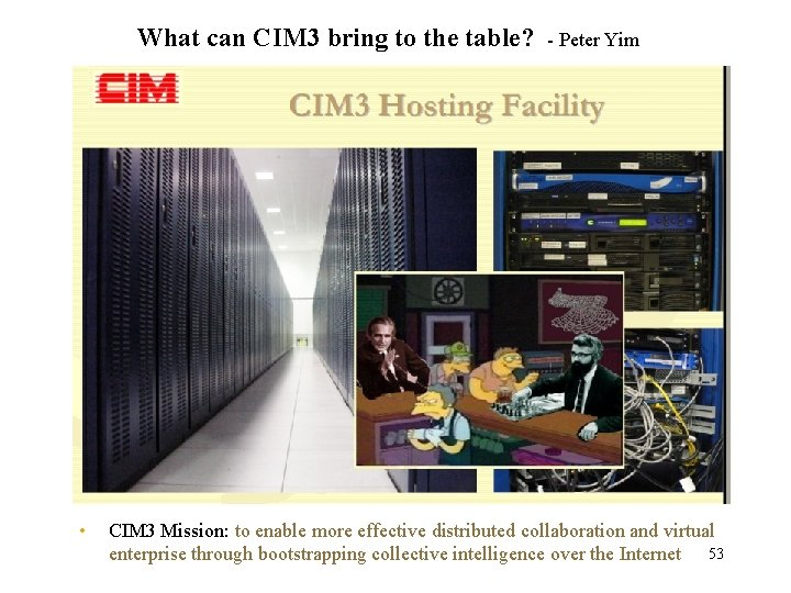 What can CIM 3 bring to the table? • - Peter Yim CIM 3